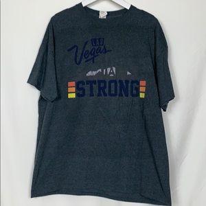 Gildan Vegas Strong grey tee shirt size XL